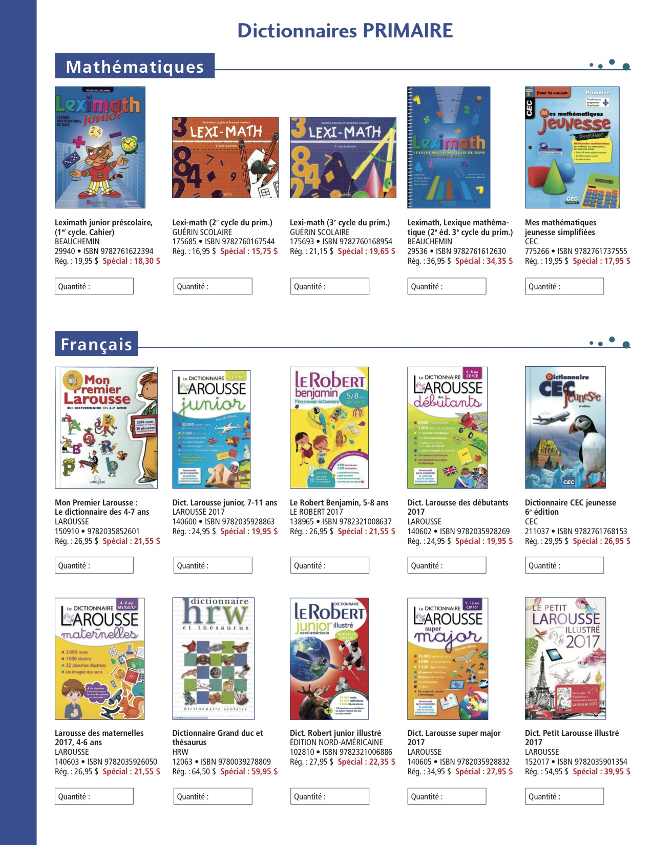 Catalogue primaire